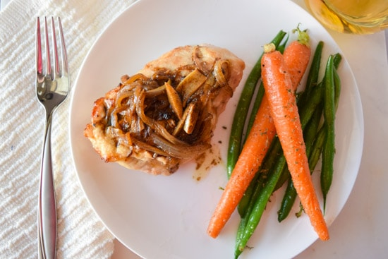 Brie and Caramelized Onion Stuffed Chicken | Cuts and Crumbles
