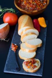 Bruschetta with Mini Peppers