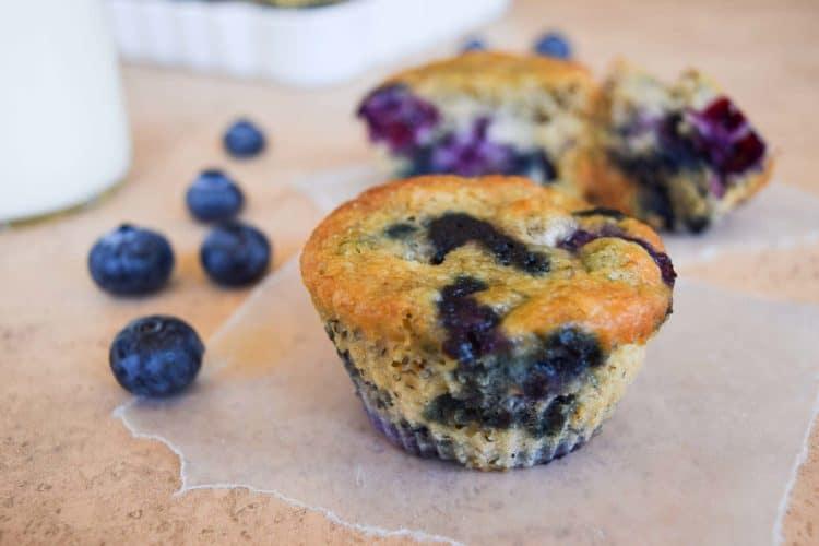 Skinny Blueberry Banana Muffins-6