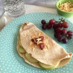 gouda bacon apple onion quesadillas