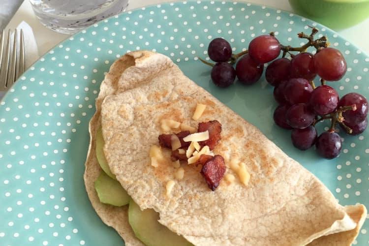 gouda bacon apple onion quesadillas