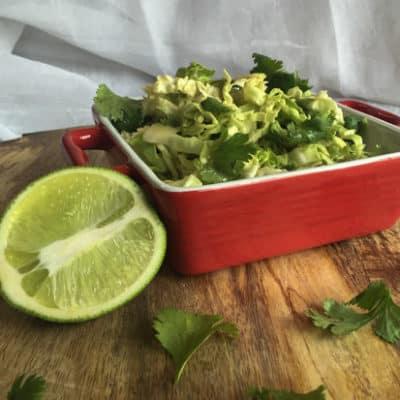 Balsamic Cilantro Cabbage