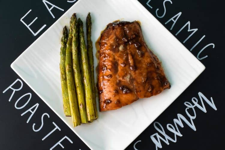 Easy Balsamic Roasted Salmon