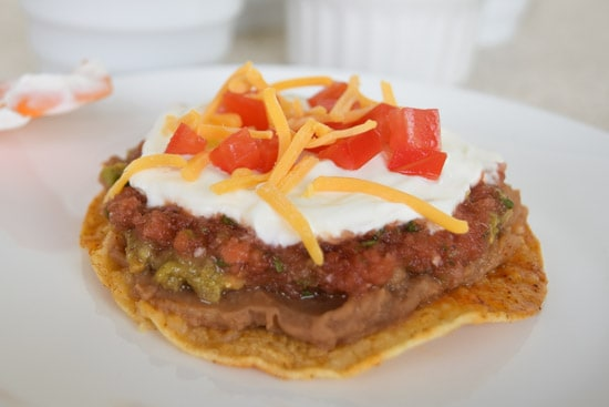 Vegetarian 7 Layer Tostada