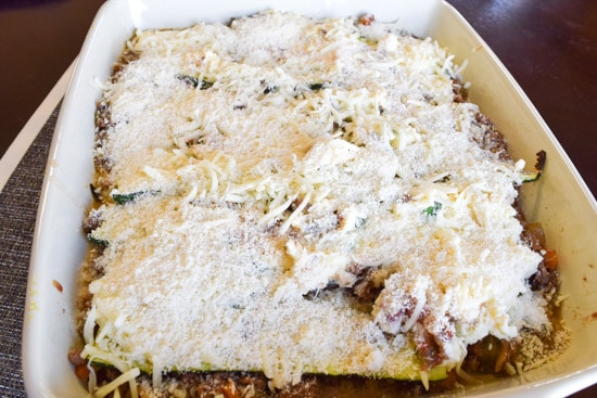 Zucchini Lasagna Bolognese
