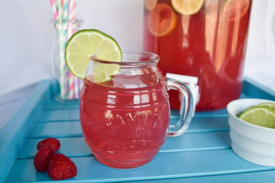 raspberry lemonade party punch