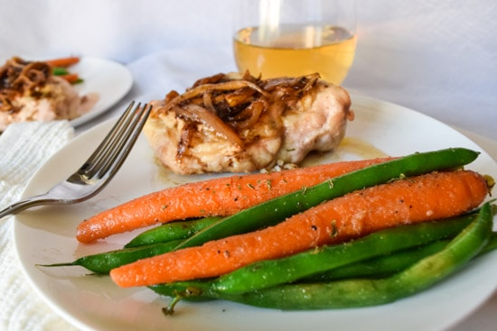 sauteed carrots and green beans