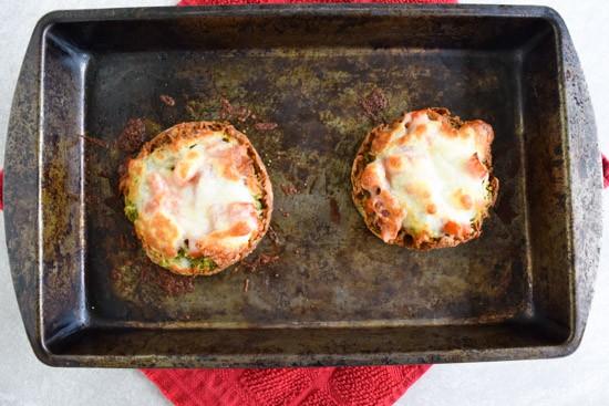 bacon mozzarella english muffins