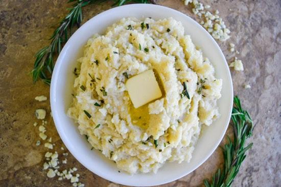 Rosemary Blue Cheese Mashed Potatoes
