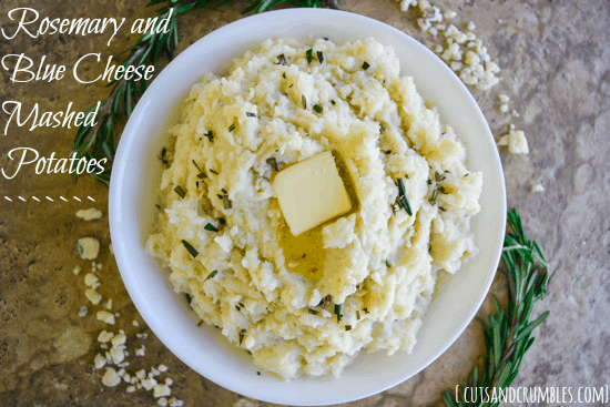 Rosemary Blue Cheese Mashed Potatoes