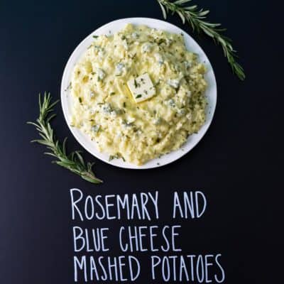Rosemary and Blue Cheese Mashed Potatoes