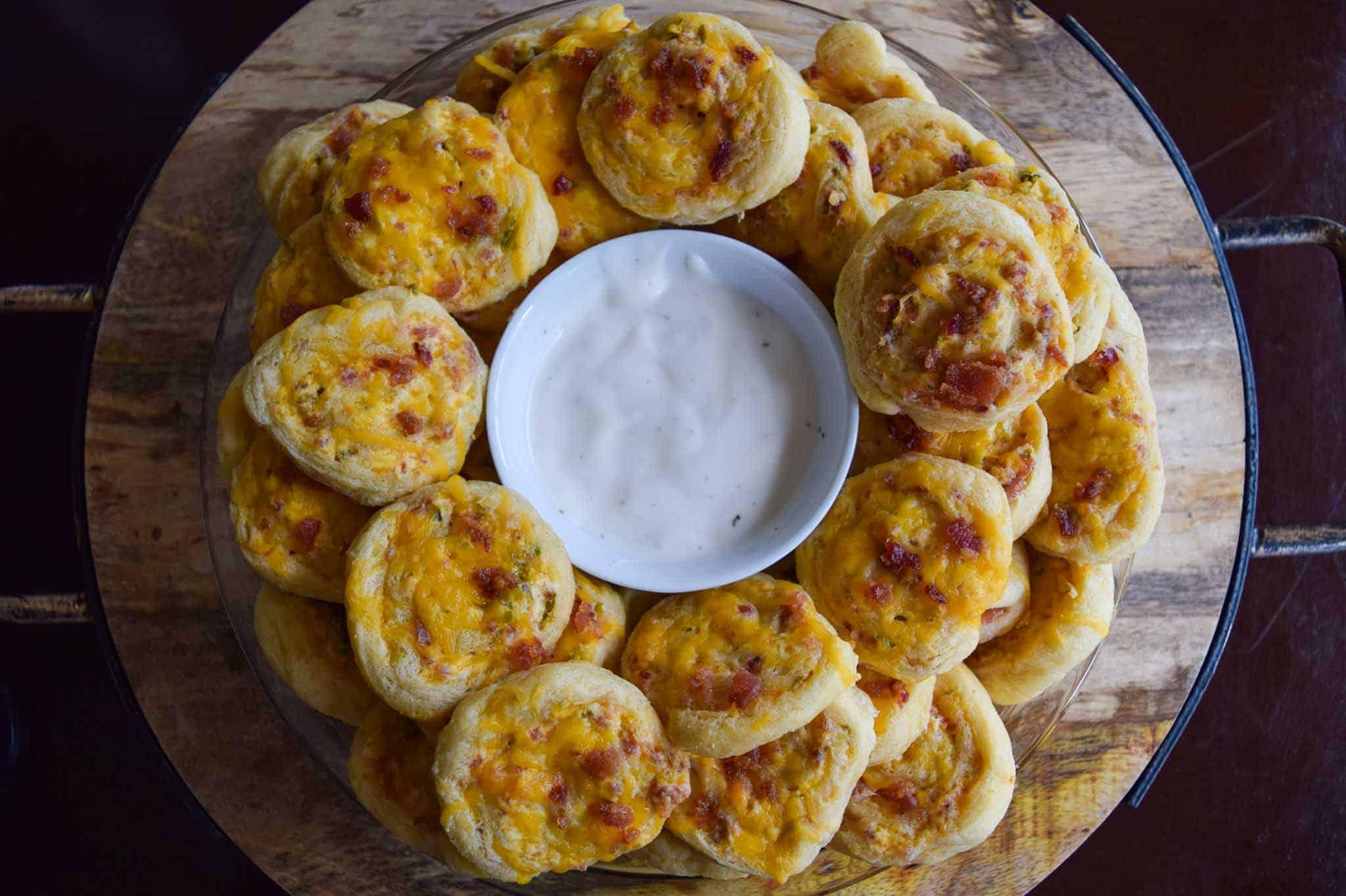 Cheddar Bacon Jalapeño Pinwheels