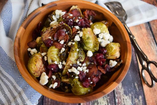 brussels sprouts with bacon and blue cheese