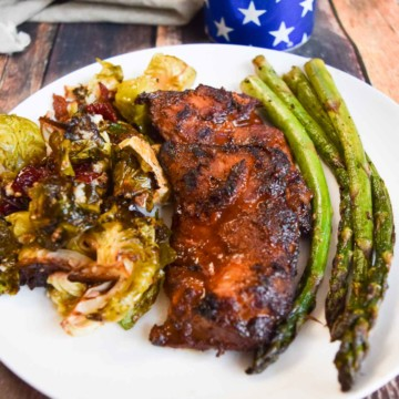 chicken thighs and asparagus
