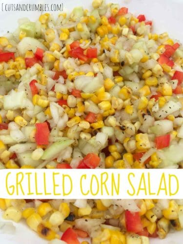 grilled corn salad with title