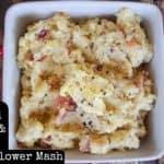 Smoked Gouda and Bacon Cauliflower Mash