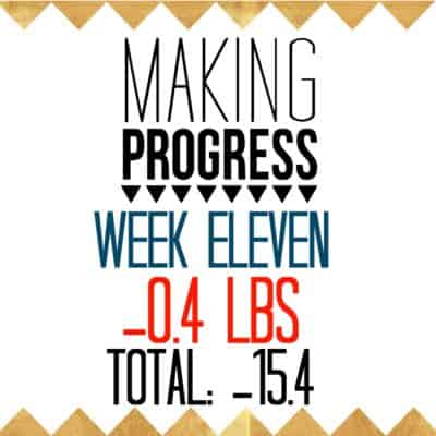 Week 11 Recap: -0.4 pounds