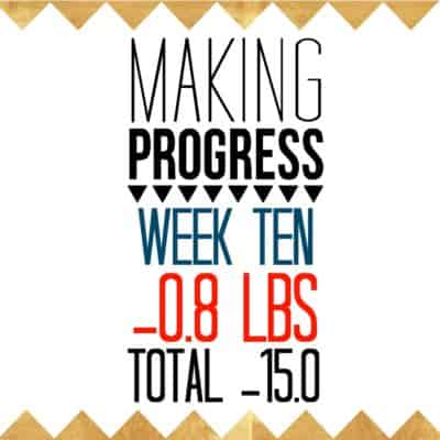 Week 10 Recap: -0.8 pounds