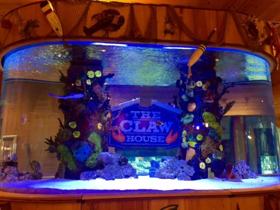The Claw House restaurant fish tank