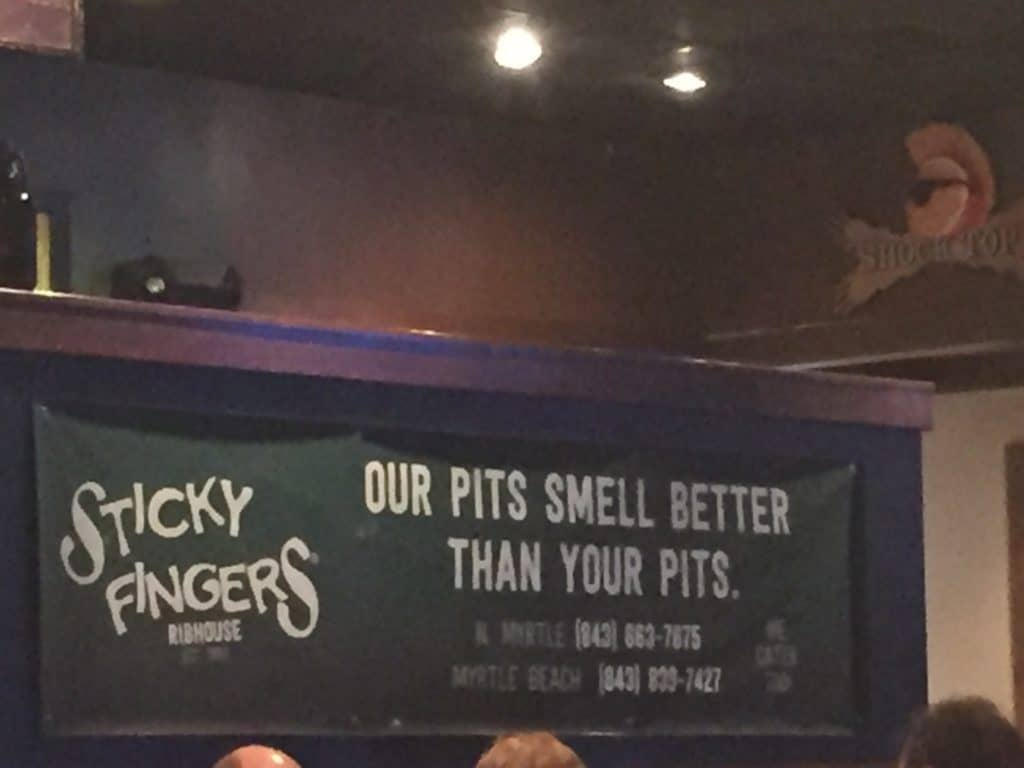 Sticky fingers sign