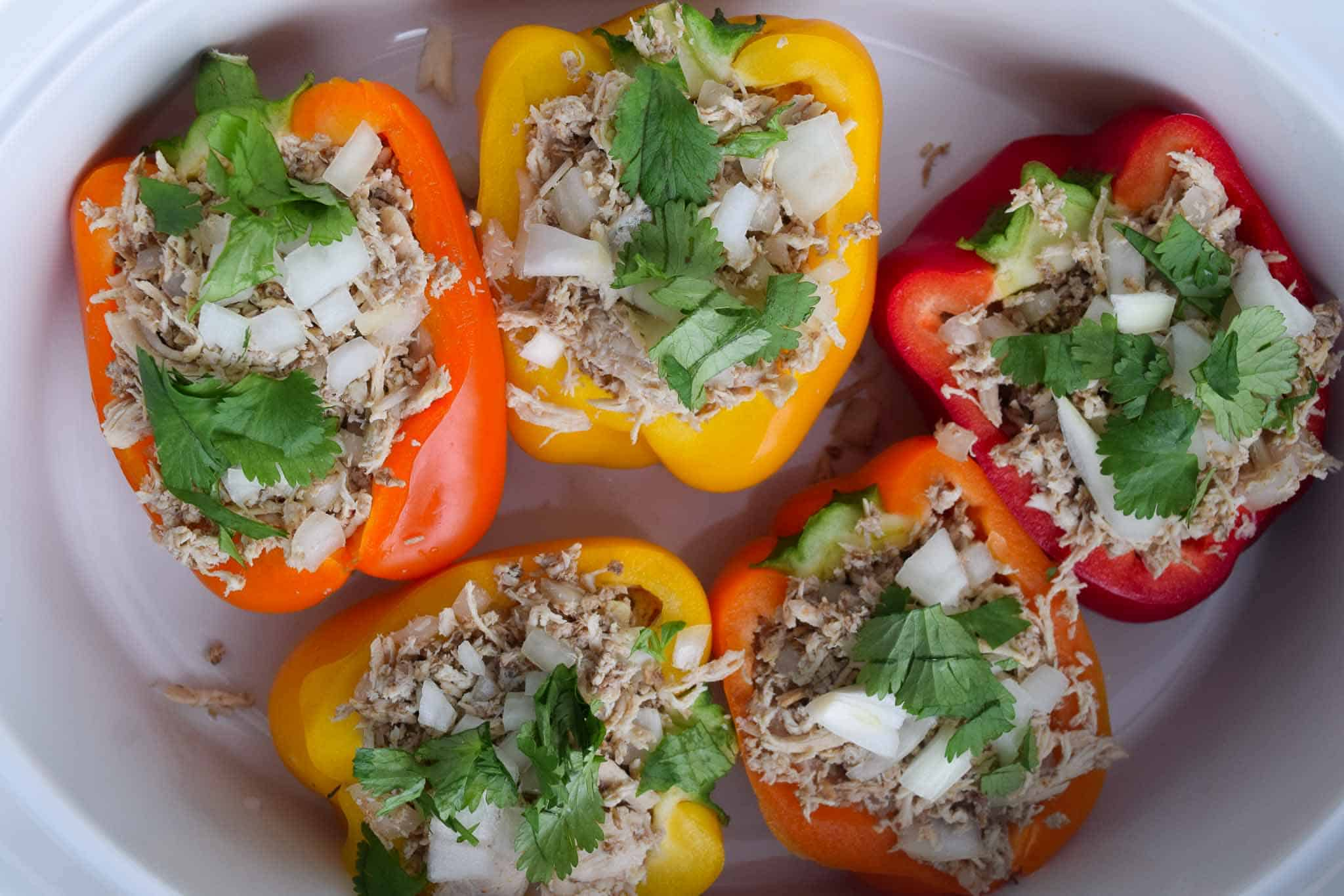 chicken stuffed peppers