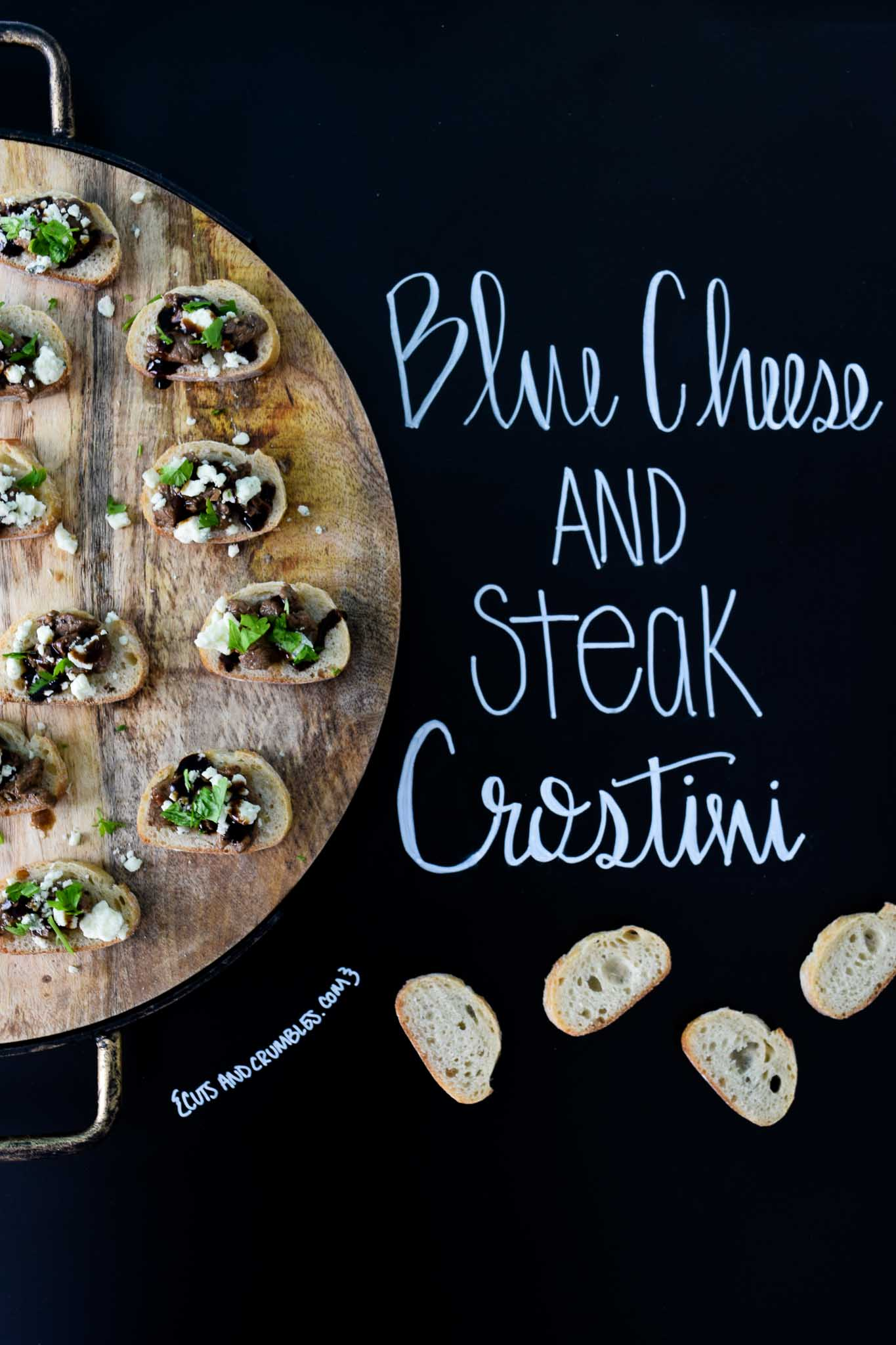 Blue Cheese and Steak Crostini