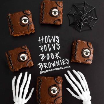 Hocus Pocus Book Brownies