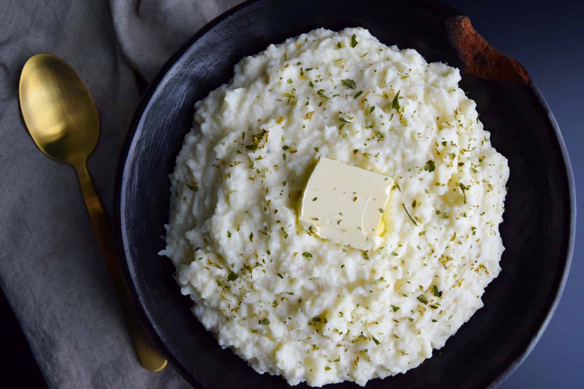 Mashed Cauli-Potatoes
