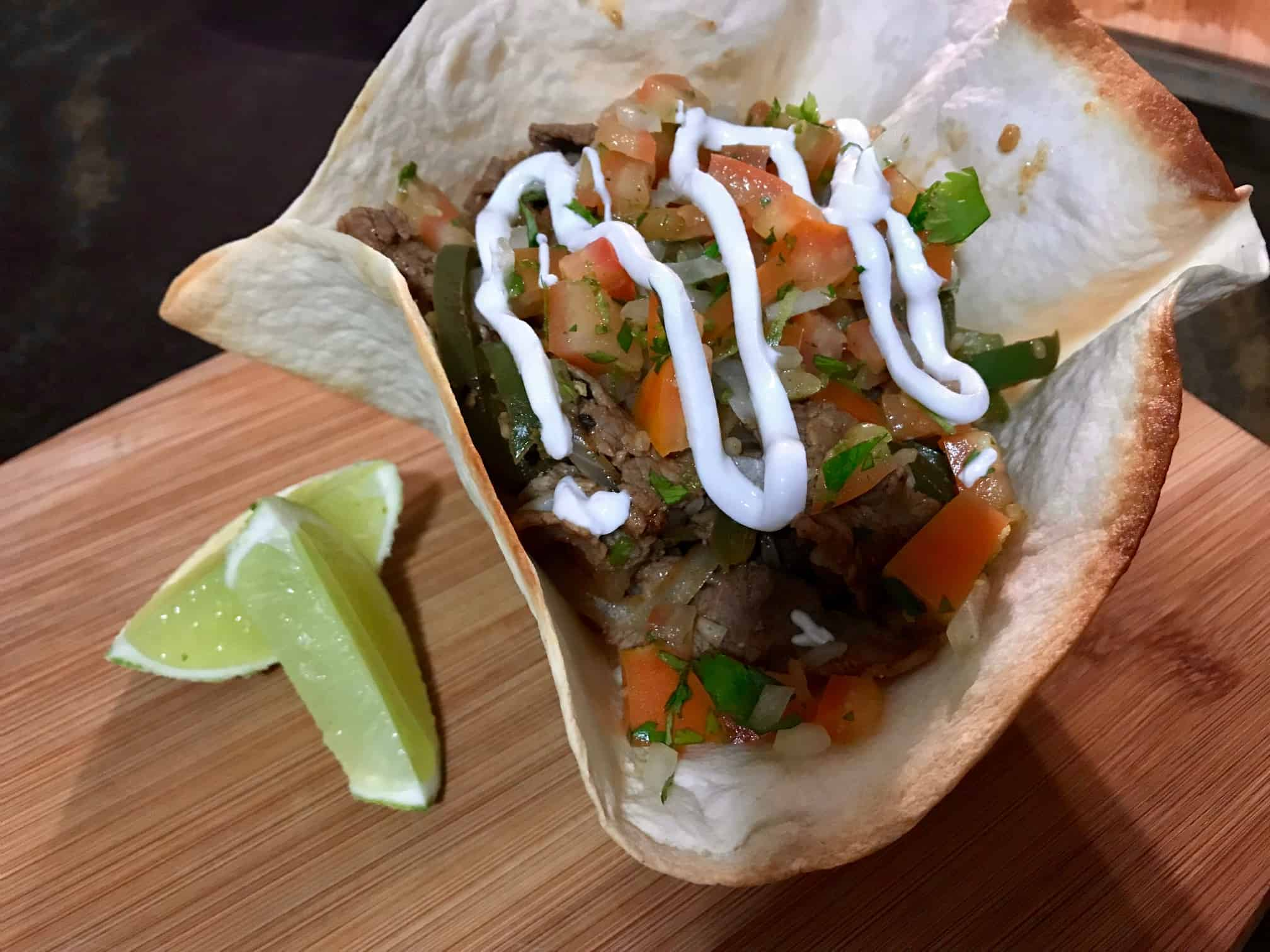 Home Chef Strip Steak Tacos