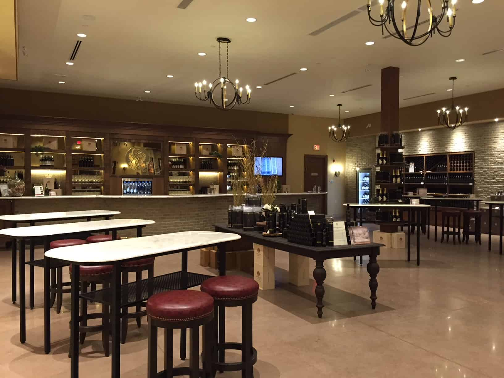 Inside view of Two Sisters Vineyard tasting room