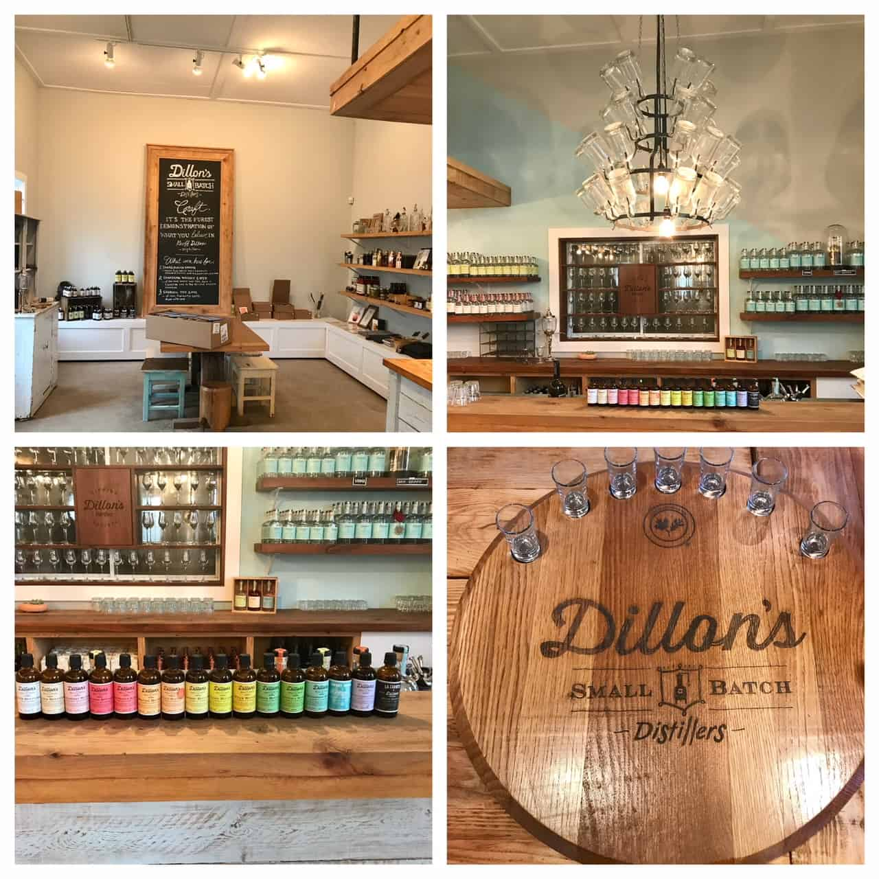 Collage of images from Dillons Distillery