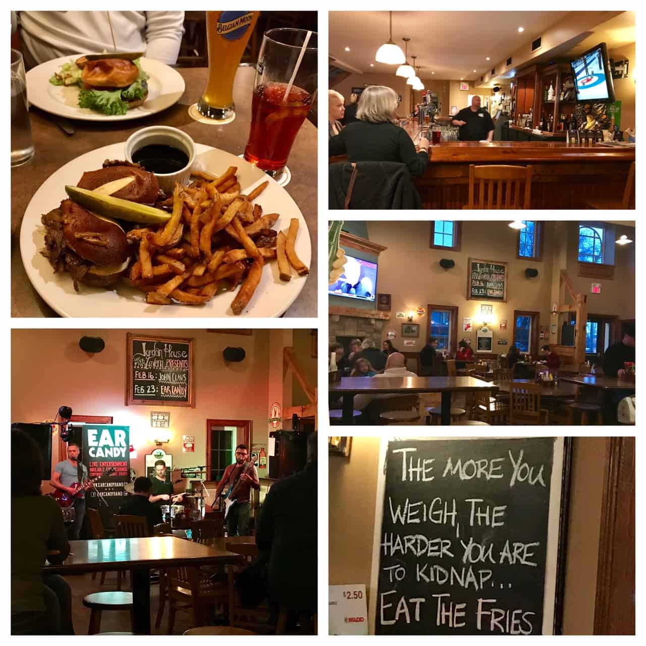 Collage of images from Jordan House Tavern
