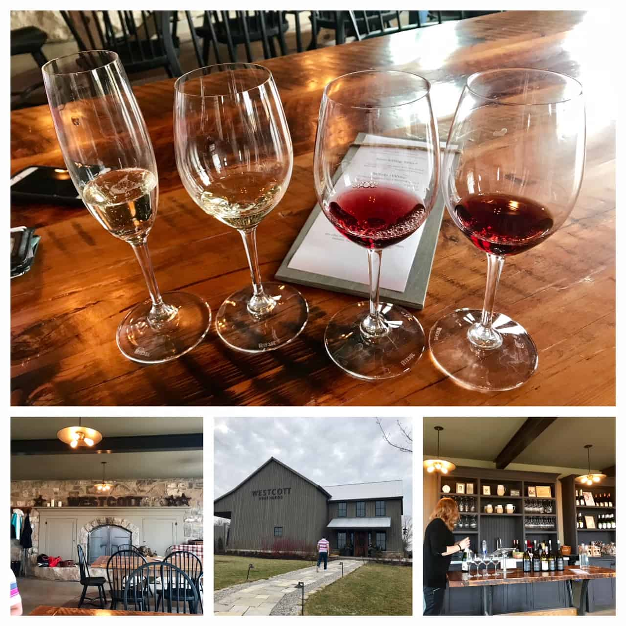 Collage of images from Westcott Winery