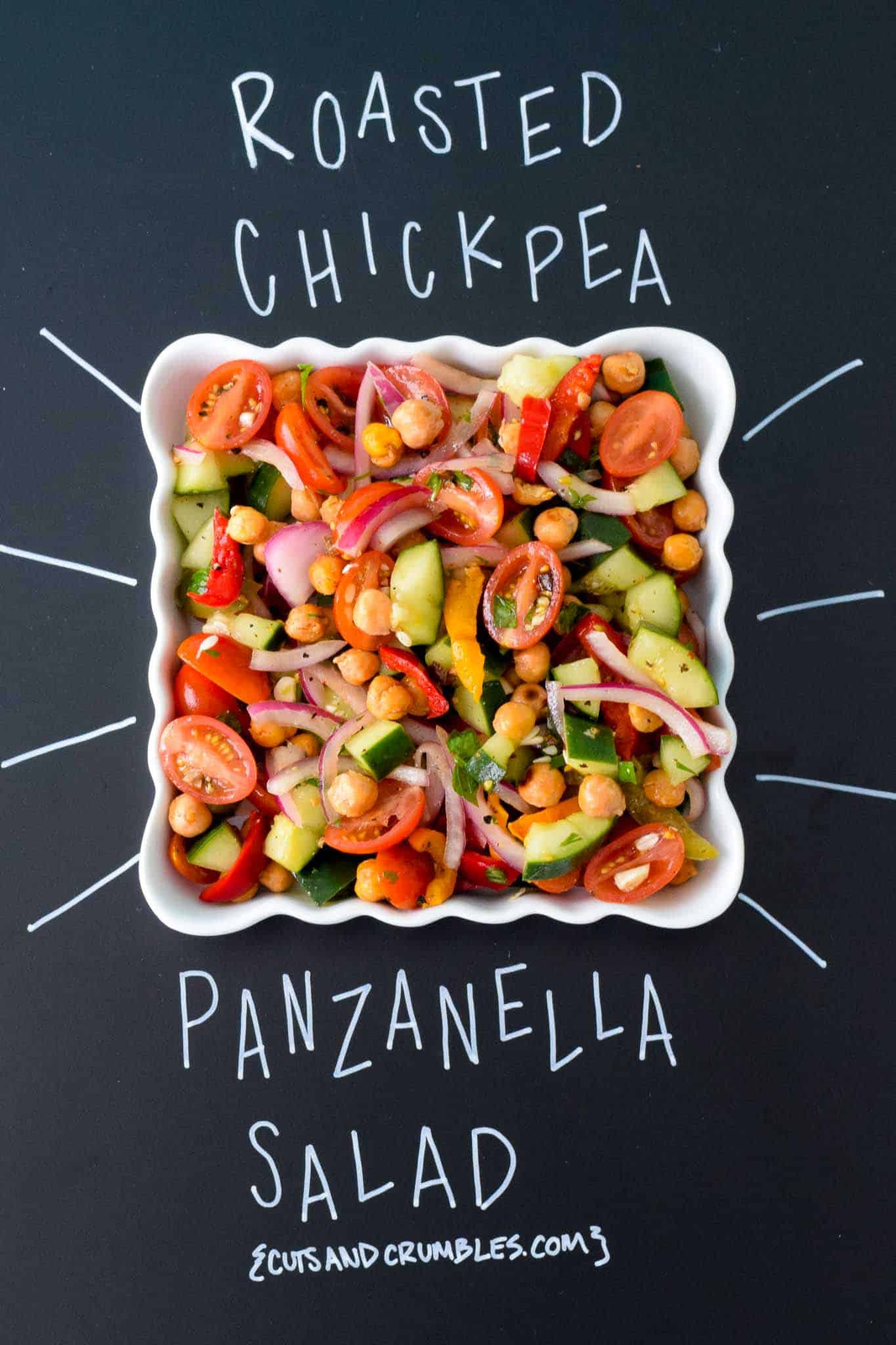 Roasted Chickpea Panzanella Salad