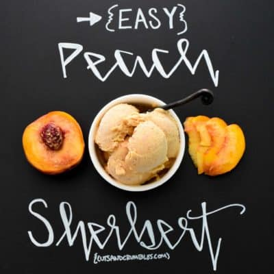 Easy Peach Sherbert