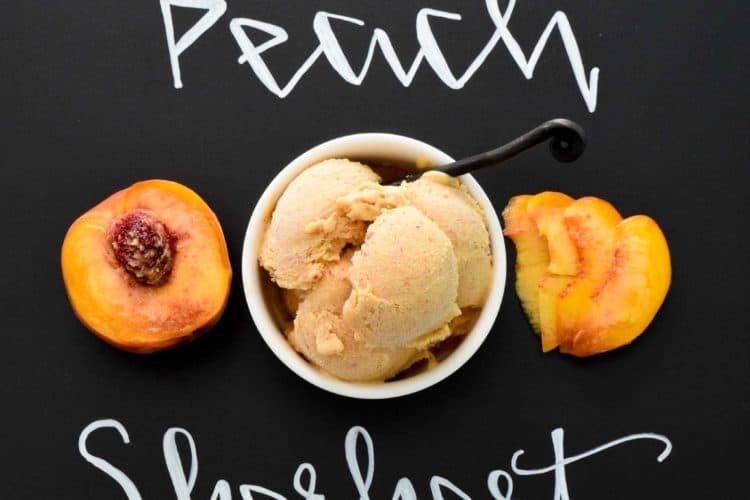 Easy Peach Sherbert