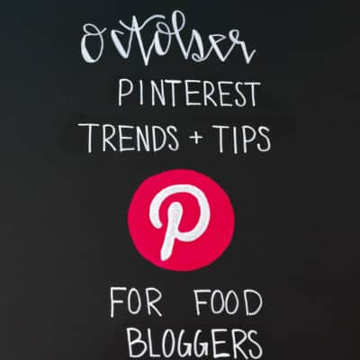 October Pinterest Trends and Tips for Food Bloggers