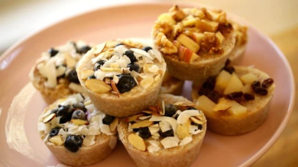 oatmeal cups on plate