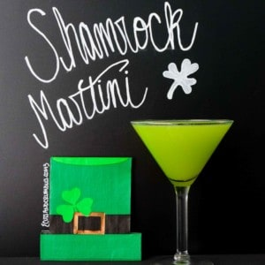 Shamrock Martini with title written on black background